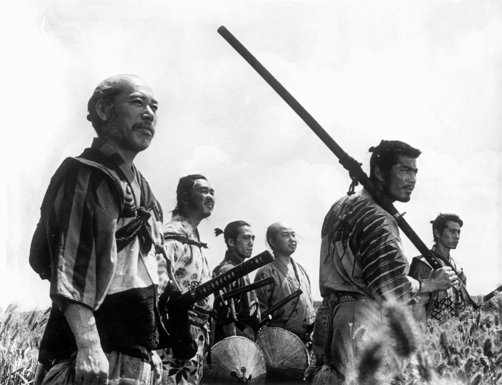 Toshiro Mifune, as the fool in The Seven Samurai.